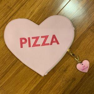 Studio DIY pizza clutch with keychain